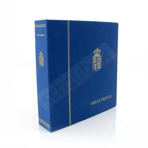 Schaubek KOA-808/01N Album Great Britain 1840-1969 Standard, in a blue screw post binder, Vol. I, with slipcase by Schaubek (Image #1)