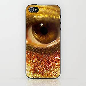 QJM Yellow Eyes Pattern hard Case for iPhone 6