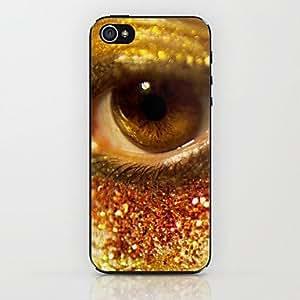 amarillo caso duro del patrón de ojos para el iphone 6