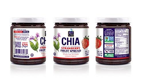 World of Chia Chia Standard Fruit Spreads, Blackberry/Raspberry/Strawberry by World of Chia (Image #2)