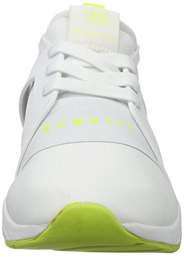 Bugatti Damen DY50096N6 Weiß Neongelb Sneaker Weiss FfFxYwvPqr