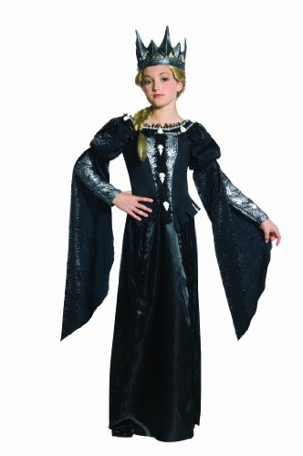 Snow White and The Huntsman Deluxe Ravenna Skull Dress Tween Costume, Un solo color, Mediano