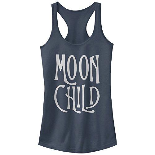 - Peaceful Warrior Juniors' Moon Child Indigo Racerback Tank Top