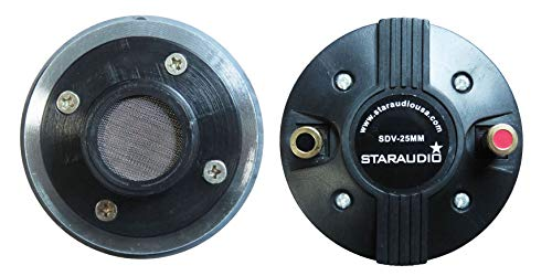STARAUDIO 25MM 8Ohms Titanium Driver Tweeter,Of Compression Screw-on Horn Speaker Driver Tweeter,For Repair Pro PA,DJ Powered Speaker Replacement - Tweeter Compression Driver