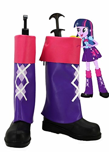 My Little Pony Equestria Girls Rainbow Rocks Twilight Sparkle Cosplay Shoes Boots Custom -