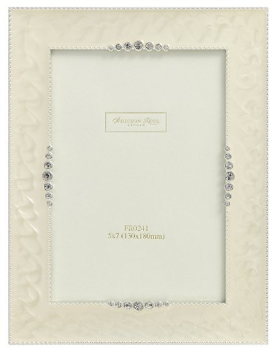 Addison Ross, Wedding Photo Frame, 8x10, Starburst Cream Enamel, 8 x 10 Inches