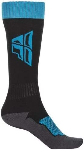Fly Racing Youth MX Thick Socks,One Size,Black//Pink//Grey