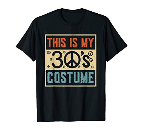 This Is My 30s Costume Halloween 1930 T-Shirt -