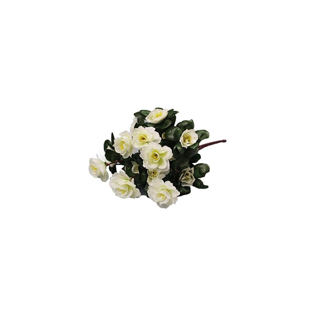 Inverlee-1Pcs-Artificial-Flowers-Azalea-Safflower-Floral-Fake-Flowers-Wedding-Bridal-Bouquet-DIY-Home-Garden-Decor-White