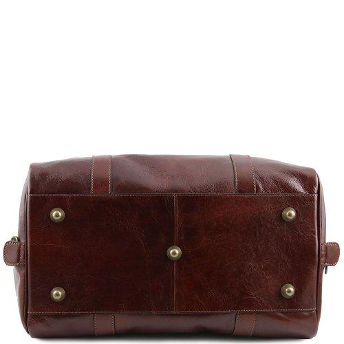 Tuscany Leather - Sac de voyage en cuir avec boucles - Petit modèle - Marron
