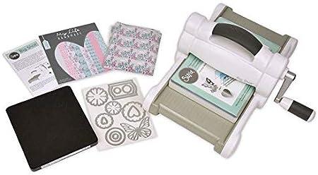Big Shot Starter Kit White-Gray, Sizzix, Accesorios, repujado, papel para álbumes de recortes
