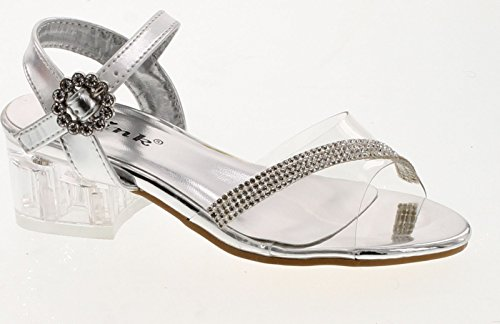Link Sui-08K Girl's Rhinestone Clear Upper Lucite Heel (Lucite Link)
