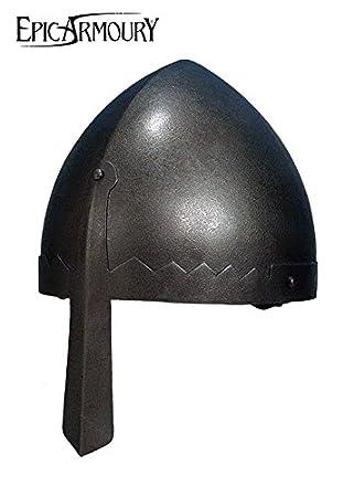 normannischer nasal Casco de acero Deko Casco schaukampftauglich Ritter Casco LARP Vikingo Varios Modelos, color