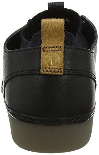 Clarks Nature IV, Scarpe da Ginnastica Basse Uomo Nero (Black Leather)