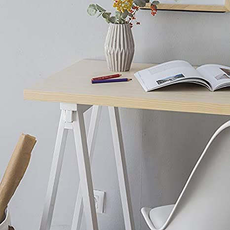 Kenay Home Escritorio Skip 120cm (Natural Patas Blancas): Amazon ...