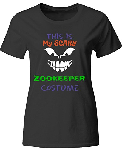 [This Is My Scary Zookeeper Halloween Costume - Ladies T-shirt Ladies Xl Black] (Zookeeper Costumes For Womens)