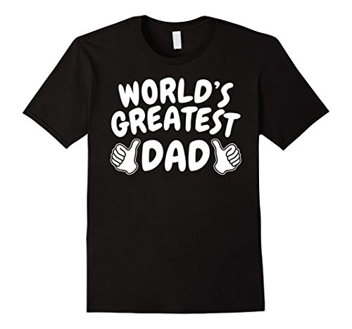 Mens 1 dad shirt number 1 dad world's greatest dad tshirt Large Black (T-shirt One Dad Number)