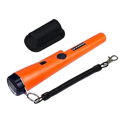Laurelmartina Handheld GP Zeiger Wasserdicht Automatische Zeiger Pinpointer Tragbare Metalldetektor mit LED-Licht 360 ° Erkennung: Amazon.es: Jardín