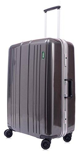 lojel-superlative-frame-polycarbonate-large-upright-spinner-luggage-grey-one-size