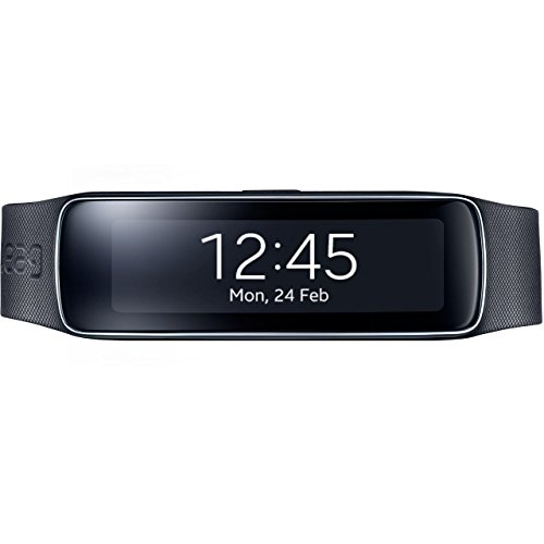 Samsung Galaxy Gear Fit SM-R350 Smartwatch Tracker - Retail Packaging - Charcoal Black