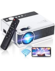 $99 » Projector for Outdoor Movies, Wevivi 1080P Supported Video Projector with 5500Lux, Compatible with , HDMI, VGA, AV and USB