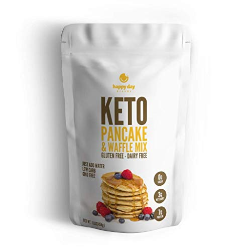 Happy Day Brands Keto Pancake & Waffle Mix, 16oz Bag
