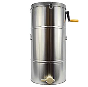 Finlon Two 2 Frame Stainless Steel HoneyBee Honey Extractor Beekeeping Equipment Honeycomb Drum Honeycomb Spinner(Only Ship to USA)