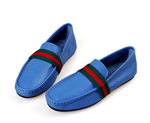 Happyshop (tm) Lederen Casual Schoenen Instappertje Loafer Mode Heren Bootschoenen Blauw