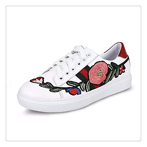 ZHZNVX Zapatos de Mujer PU (Poliuretano) Zapatos de Primavera/otoño Comfort Low Heel Red/Green Red
