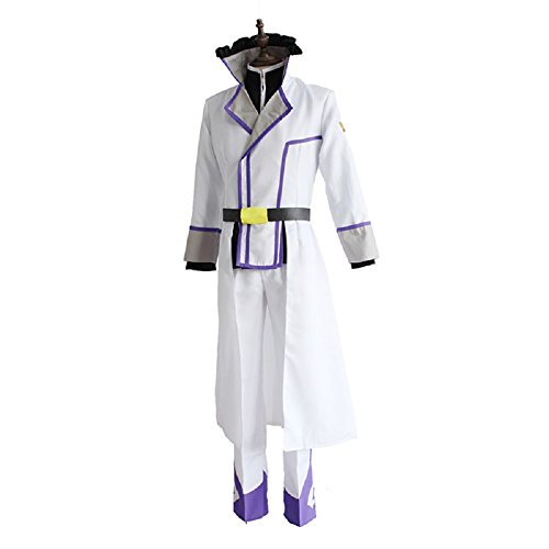 [Mtxc Men's Re:Zero Starting Life in Another World Cosplay Reinhard Suit Size Large White] (Costumes Starting With L)