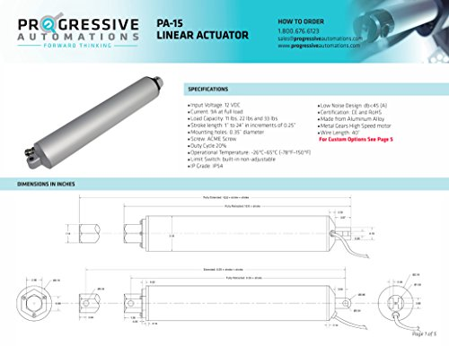 Progressive Automations High Speed Linear Actuator Stroke