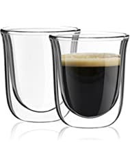 Exceptionnel JoyJolt Javaah Double Walled Espresso Glasses, Set Of 2 Nespresso Cups  2 Ounce