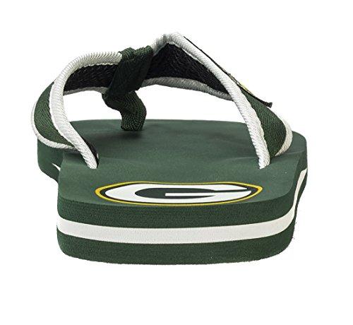 Per Sempre Da Collezione Nfl Armadietto Da Uomo Etichetta Contorno Flip - Flop - Scegliere Team Green Pack Packers