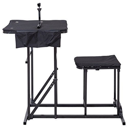 Folding Shooting Bench Seat with Adjustable Table Gun Rest Height Adjustable by BUY JOY (Image #1)