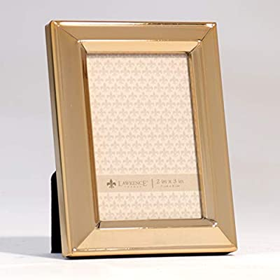 Lawrence Frames 2x3 Gold Metal Classic Bevel Picture Frame,