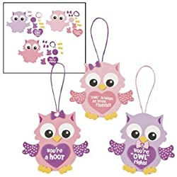 Valentine Owl Ornament Craft Kit - Crafts for Kids & Ornament Crafts