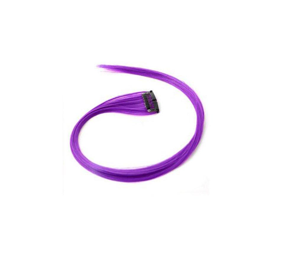 Oyfel Multi Color Piece Morceaux Extensions de Cheveux colorés Couleur Fort Mix Filles poupées Clip in stries Funky Clip