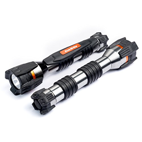 EVERBRITE 2PACK Aluminum Transformer 3W LED 2AA Flashlight