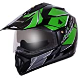 Vega Off Road D/V Mud Dull Black Green Helmet, M