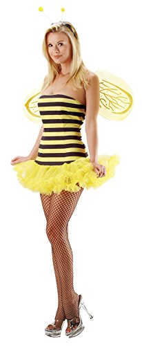 Leg Avenue Womens Bee Sexy Honey Bee Fairytale Outfit Fancy Dress Sexy Costume, M/L (8-14) -
