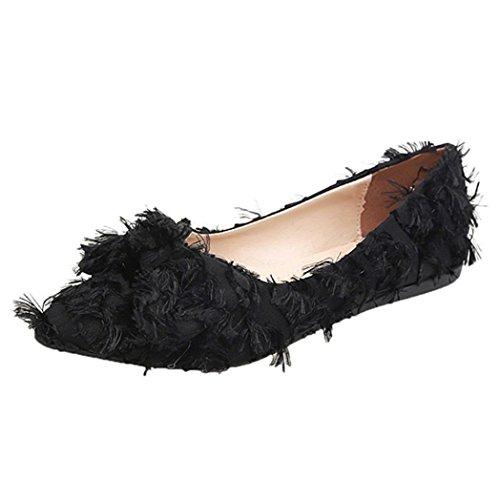 Flops Plates Flip Profond à Cross Pointu à Bas Chaussures Noir Bout Enfiler Talon Plat Chaussures Peu Bohême Femmes Sandales Longra Chaussures Femmes pour Shoes Chevrons Bowknot Sandales OAqTAa1