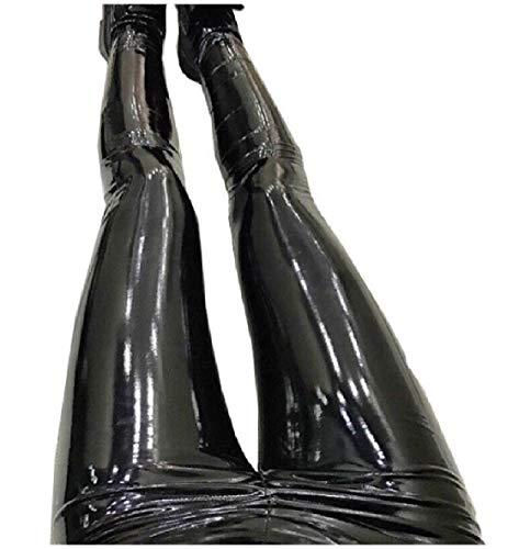 フェザー悪の払い戻しTootess 女性カジュアルPUパンクスキニーペンシルパンツシムフィット帝国ウエストレギンス