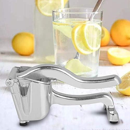 Exprimidor de limón Exprimidor manual Exprimidor manual de aleación Exprimidor de limón Exprimidor de granada Presión de limón Jugo de azúcar Exprimidor manual de limón (Plata