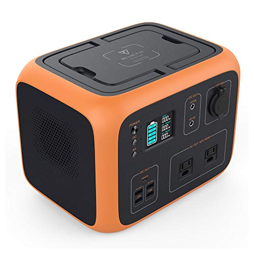 MAXOAK Power Station 500Wh Solar Generator Bluetti AC50 Wireless Charging Battery Backup for Outdoor Tailgating Camping RV Trip Power Outage(Dual AC Outlet,Pure Sine-Wave,PD 45W USB-C, LED Lighting) Uncategorized