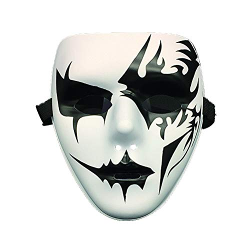 xiangliood Thick Blank Phantom Costume White Face Mask Scary Cosplay Dancer DIY Mask -