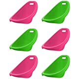 100% Plactic made with Stylish Rocker Sets and Scoop Rocker in Assorted Colors (Pack of 6)