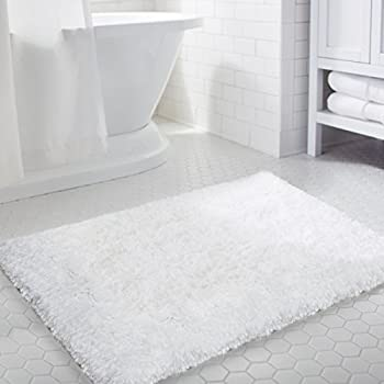 large white bathroom rugs k mat 20x32 inch white bath mat soft shaggy 19121