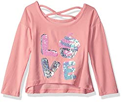 Girls' Long Sleeve Sequin Tee