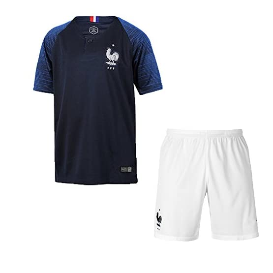 Bokning Coupe du Monde 2018 T-Shirt Equipe pour Adulte/Enfant - Nom et Numéro Personnalisés