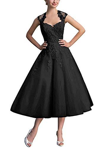 Linie Spitze Abschlussballkleider La Elegant Kurz Partykleider A Abendkleider Schwarz Wadenlang mia Braut Ballkleider nxqaIxFzv